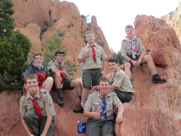 Philmont Crew at Garden of the Gods